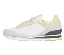 Sneaker creme / dunkelgrau / kiwi