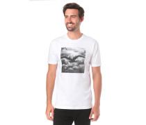 T-Shirt 'Clouds' weiß