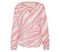 Bluse mit Print pink / weiß