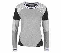 Sweatshirt graumeliert / schwarz / weiß