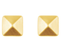Ohrstecker 'Pyramid' gold