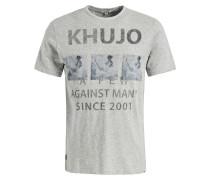 T-Shirt ' Uslo Surf' graumeliert