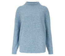 Strickpullover 'boxy High Neck' himmelblau