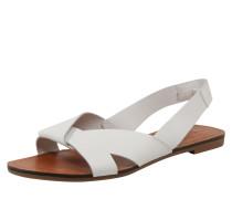 Sandalen 'Tia' braun / weiß