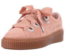 'Platform Kiss Suede' Sneaker rosa