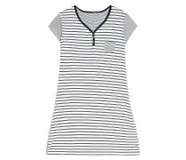 Nachthemd 'Derya' schwarz / weiß