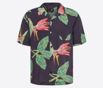 Hemd 'Resort Shirt' grün / rot / schwarz