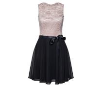 Kleid puder / schwarz