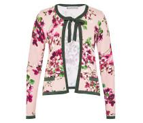 Blumen-Cardigan mit Lurex-Einsätzen mischfarben