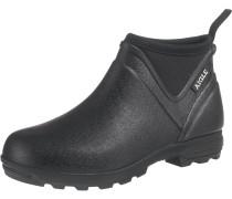 Boots 'landfor' schwarz / weiß