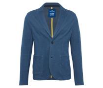 Sweat Blazer 'fine stripes' dunkelblau