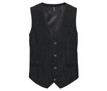 Weste 'structure pattern vest' schwarz