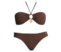 Bandeau-Bikini braun