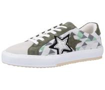 Sneaker silbergrau / khaki / mint / weiß