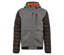 Jacke basaltgrau / graumeliert