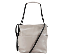 Hobo Bag in Glanz-Optik grau