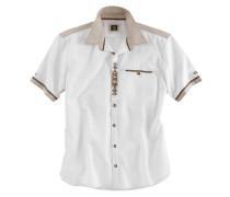 Trachtenhemd creme / elfenbein / weiß