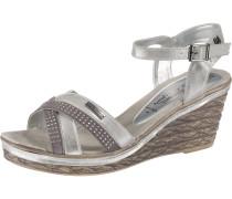 Sandaletten schlammfarben / silber
