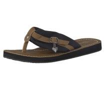 Sandale 'Anhänger' braun / schwarz