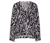Bluse 'lilyen' grau / schwarz