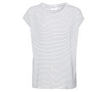 T-Shirt 'ava Plain' schwarz / weiß