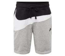 Shorts grau / schwarz / weiß
