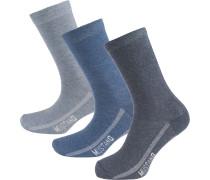 Socken blau / rauchblau / taubenblau