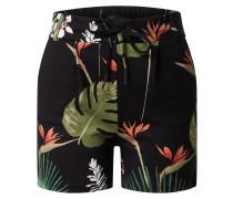 Shorts 'onlpoptrash Print Shorts' schwarz