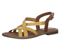 Sandale gelb / cognac
