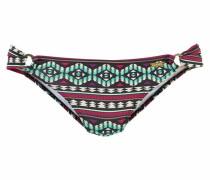 Bikini-Hose elfenbein / türkis / aubergine