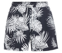 Badeshorts 'floral AOP Short' navy / weiß