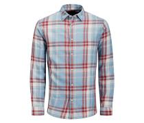 Flanell Karo T-Shirt hellblau / rot