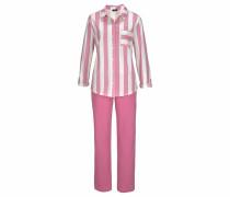 Pyjama 'Dreams' pink / weiß