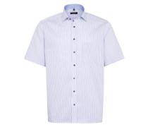 Kurzarm Hemd Comfort FIT marine / weiß