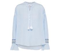 Bluse 'Hemd' hellblau / weiß