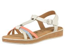 Sandale 'glow' weiß