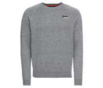 Pullover 'orange Label Vee' graumeliert