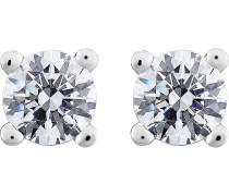 Diamonds Ohrstecker silber / transparent