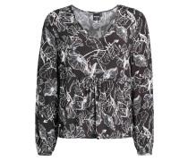 Blusenshirt 'Tuta' schwarz / weiß