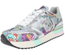 Sneaker 'waste' neonblau / apfel / silber