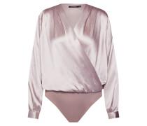 Shirt 'Satin Wrap Front Bodysuit' pink