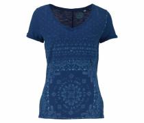 Print-Shirt royalblau