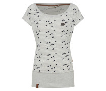 Shirt 'Wolle Spatzl' marine / graumeliert