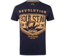 T-Shirt blau / gelb