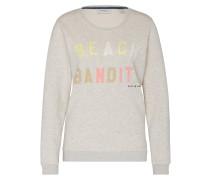Sweater mit Typo-Print hellgrau