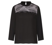 Bluse 'onlFREJA 7/8 Lace Shirt Wvn' schwarz
