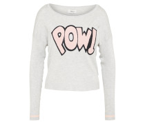 Pullover 'sonja' hellgrau / rosa
