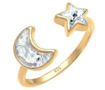 Ring 'Halbmond Sterne' gold