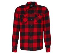 Hemd 'Sacramento' rot / schwarz