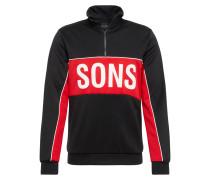 Sweatshirt rot / schwarz
